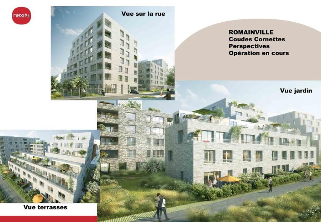 Construction de plus de 1000 logements - Coudes Cornettes -  Romainville-0
